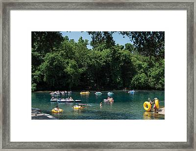 Prince Solms Park On The Comal River In New Braunfels Framed Print