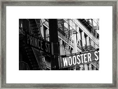 Prince St Wooster St Framed Print