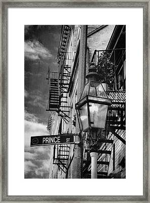 Prince Street Vertical - Boston - North End Framed Print