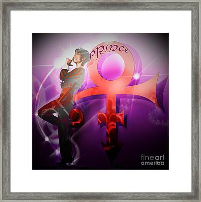 Prince - The Legend / The Mystery Framed Print by LDS Dya