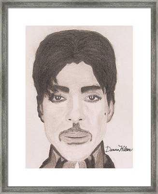 Prince The Singer Framed Print by Donna Wilson
