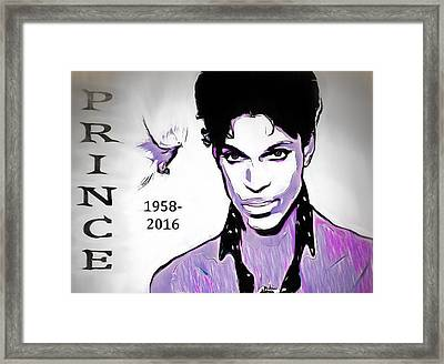 Prince Tribute Framed Print by Dan Sproul