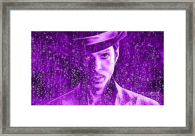 Prince Tribute Purple Rain Framed Print by Marvin Blaine