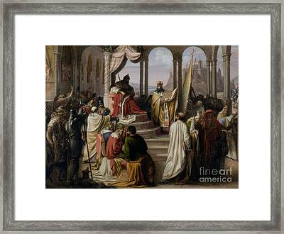 Prince Vladimir Chooses A Religion In 988 Framed Print