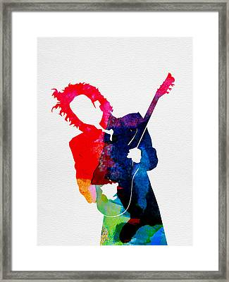 Prince Watercolor Framed Print by Naxart Studio
