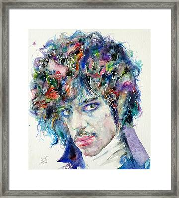 Prince - Watercolor Portrait Framed Print
