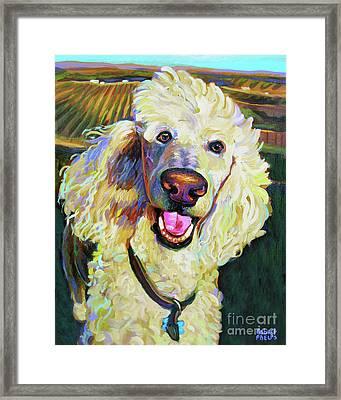 Princely Poodle Framed Print