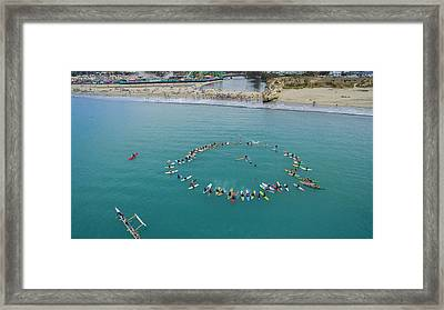 Princes Of Surf Paddle-out Framed Print