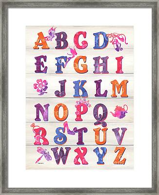 Princess Alphabet Framed Print by Debbie DeWitt