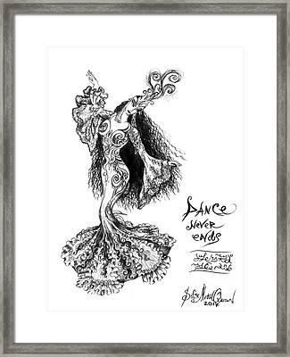 Princess Ameynra. Birthday. Dance Framed Print by Sofia Metal Queen