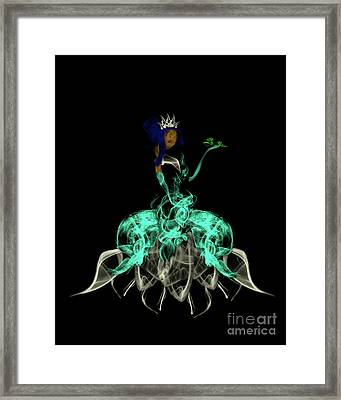 Princess And The Frog Framed Print