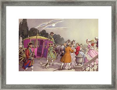 Princess Augusta, About To Give Birth, Was Bundled Into A Coach Framed Print by Pat Nicolle