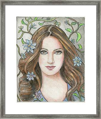 Princess Blue Framed Print