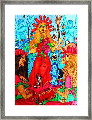 Framed Print featuring the painting Princess Countrywoman. by Don Pedro De Gracia