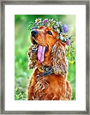 Princess Daisy Framed Print by Kathy Tarochione