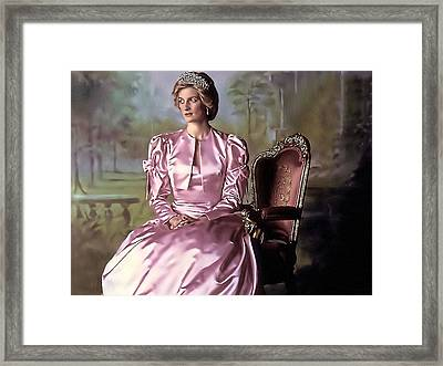Princess Diana Framed Print by Alex Zolotar