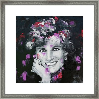 Princess Diana Framed Print by Richard Day