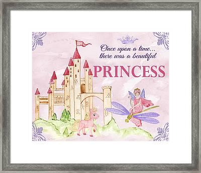 Princess-jp3584-b Framed Print by Jean Plout