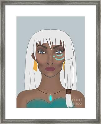 Princess Kidagakash  Framed Print by Tyeshia Williams