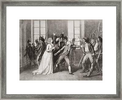 Princess  Lisabeth Of France, Sister Of Framed Print by Vintage Design Pics