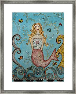 Princess Mermaid Framed Print by Rain Ririn