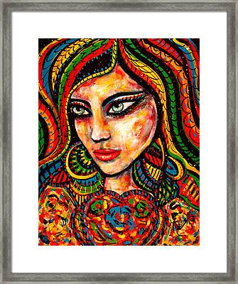 Princess Of Desire Framed Print by Natalie Holland