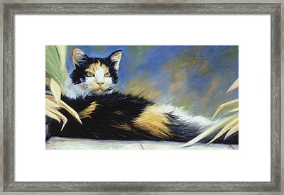 Princess Of The Garden Framed Print by Lucie Bilodeau