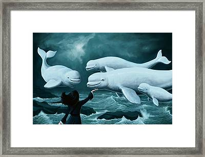 Princess Of Whales Framed Print by Mark Zelmer
