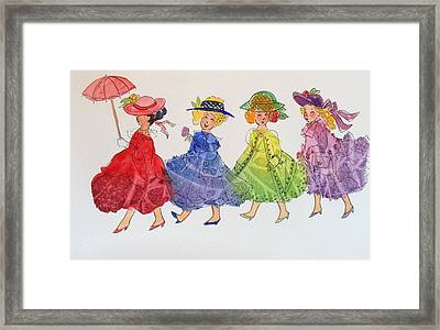 Princess Parade Framed Print by Marilyn Jacobson