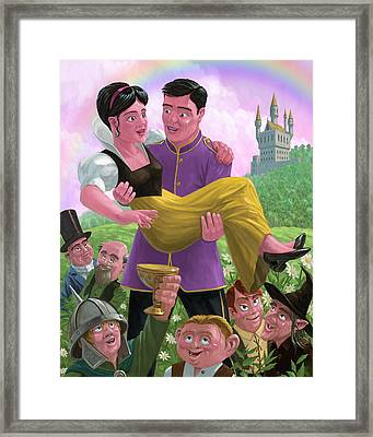 Princess Prince And Friends In Magic Kingdom Framed Print by Martin Davey