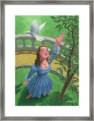 Princess Releasing Bird Framed Print