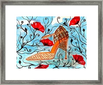 Princess Shoe Framed Print by Veronica V Jackson