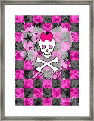 Princess Skull Framed Print