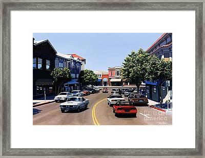Princess Street Sausalito Framed Print by Frank Dalton