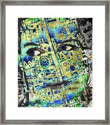 Framed Print featuring the mixed media Princess by Tony Rubino