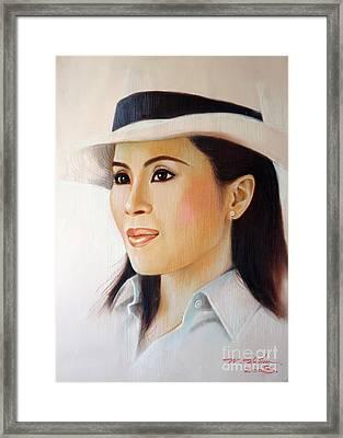 Princess Ubonrat Rachakanya Framed Print by Chonkhet Phanwichien