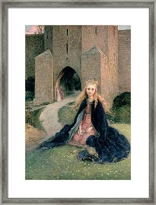 Princess With A Spindle Framed Print