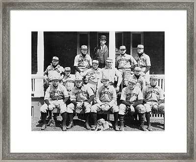 Princeton Baseball Team Framed Print by American School