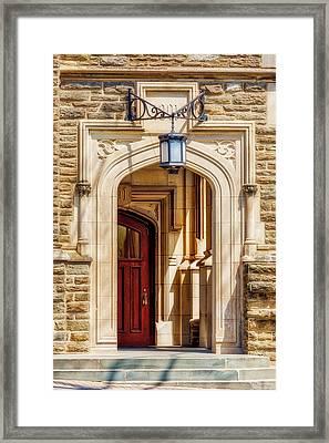 Framed Print featuring the photograph Princeton University 1901 Laughlin Hall by Susan Candelario