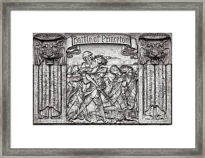 Princeton University Battle Commemorative Plaque Framed Print by Olivier Le Queinec