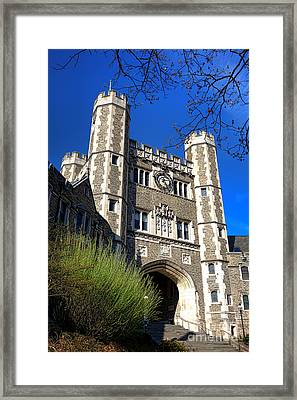 Princeton University Blair And Buyers Hall Tower Framed Print by Olivier Le Queinec
