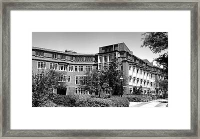 Princeton University Bloomberg Hall  Framed Print by Olivier Le Queinec