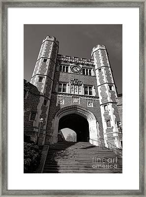 Princeton University Buyers Hall Tower Stairs Framed Print by Olivier Le Queinec