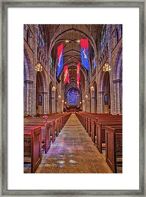 Framed Print featuring the photograph Princeton University Chapel by Susan Candelario