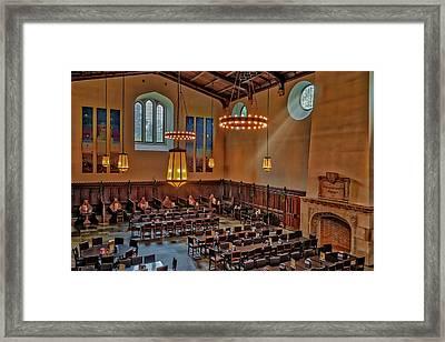 Princeton University Community Hall Framed Print by Susan Candelario