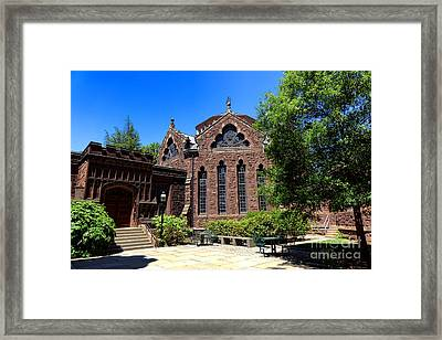 Princeton University East Pyne Hall Chancellor Green Library  Framed Print by Olivier Le Queinec