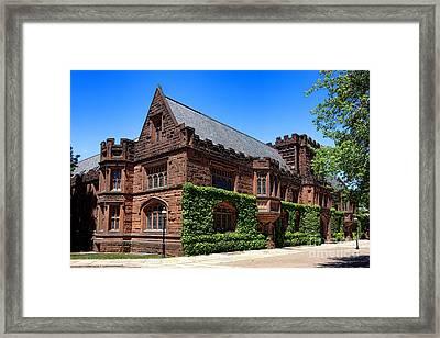Princeton University East Pyne Hall South East Corner Framed Print by Olivier Le Queinec