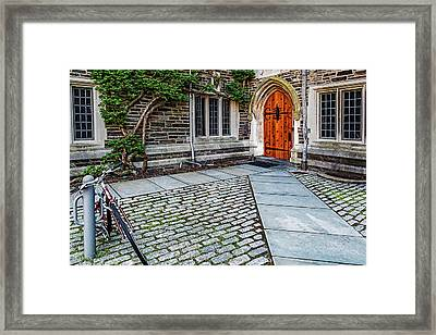 Framed Print featuring the photograph Princeton University Foulke Hall by Susan Candelario