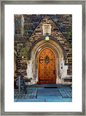 Framed Print featuring the photograph Princeton University Henry Hall by Susan Candelario