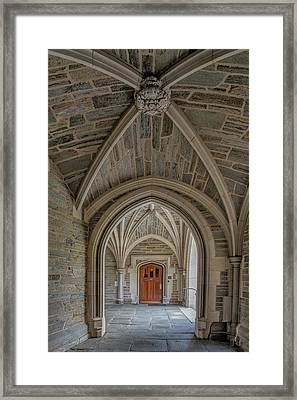 Framed Print featuring the photograph Princeton University Holder Hall Arches by Susan Candelario